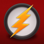 Circle Lightning Bolt Car Logo