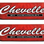 Details About Chevelle Logo Fender Covers Pair Heavy Duty