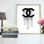 Dripping Chanel Logo Digital Art Typeandstyle