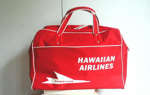 Hawaiian Airlines Red Flight Bag White Piping