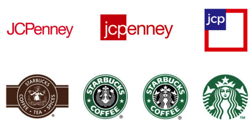 Jcp And Starbucks Logo Evolution