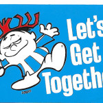 Let Get Together Big Hawaiian Punch Punchy Store Sticker