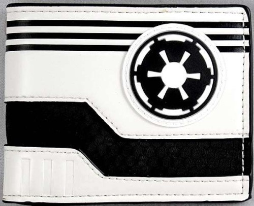 Star Wars Imperial Logo White Fold Wallet Unused