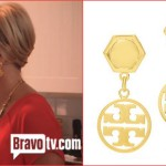 Tamra Barney Tory Burch Circle Drop Earrings