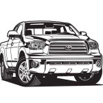 Toyota Tundra Vector Based Illustration