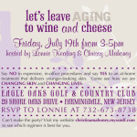 Wine And Cheese Anti Aging Rodan Fields Event Invitation Diy