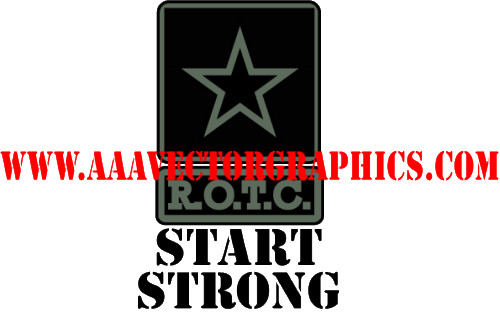 Army Logo Rotc Start Strong Subdued Eps