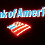 Backlit Bank America Logo