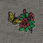 Dashmat Butterfly Flowers Embroidered Logo