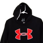 Details About Under Armour Youth Big Logo Black Red Hoodie Jacket