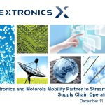 Flextronics And Motorola Mobility Partnership Conference Call