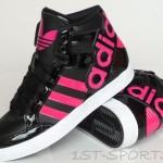 Girls Adidas Originals Hard Court Big Logo Black Trainers
