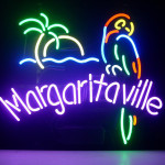 Jimmy Buffett Margaritaville Paradise Parrot Logo Real Glass Beer Bar