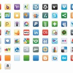 Social Media Outlets Image From Vector Icon Library