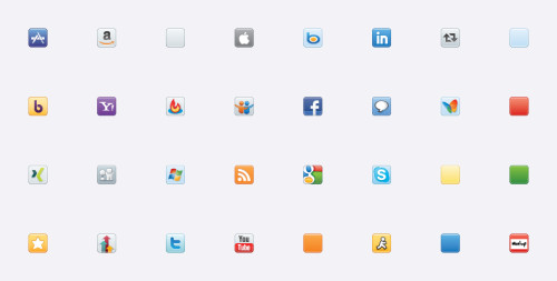 Vector Social Media Icons Icondock