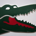 Vintage Promotional Crocodile Logo French Clothing Brand Lacoste