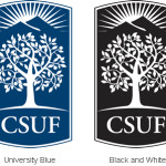 Examples Csuf Emblem Four Colors Blue Black And White