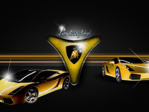 Lamborghini Logo And Cars Widescreen
