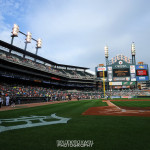 Large Logo Behind Home Plate Field Level Comerica Park