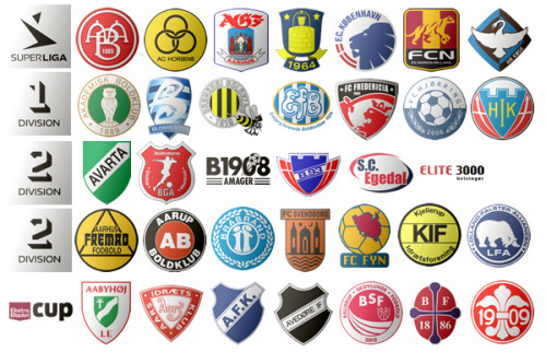 Megapack Denmark League Club Logos Football