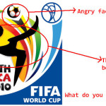 Shocking Very Obvious Hidden Message World Cup Logo