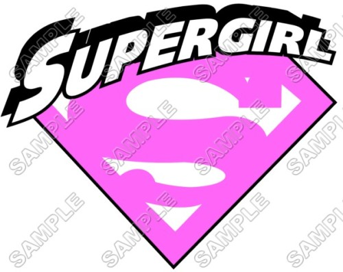 Supergirl Pink Logo Shirt Iron Transfer Decal