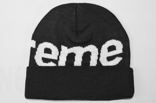 Supreme Big Logo Beanie Black Sup