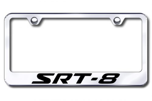 Autogold Srt Logo Chrome Frame