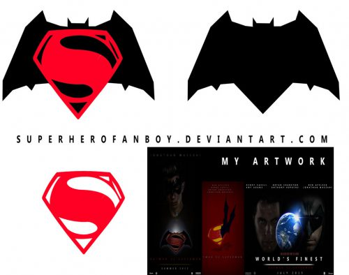 Batman Superman Logo Vector Superherofanboy