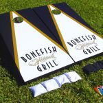 Corporate Company Logo Cornhole Game Example