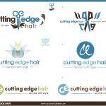 Cutting Edge Hair Salon Logo Designs