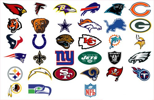 Details About All Nfl Team Logo Decals Stickers Skins Choose