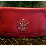 Details About Nwt Tory Burch Amanda Logo Clutch Auburn Shoulder