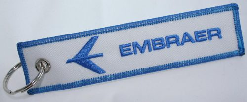 Embraer Aircraft Logo Keychain For Pilots Owners Crew