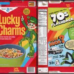 General Mills Lucky Charms Cereal Box Safeway Retro Edition