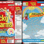 General Mills Lucky Charms New Rainbow Marshmallows Cereal Box