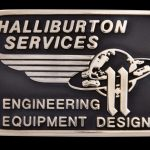 Halliburton Services Custom Brass Buckle