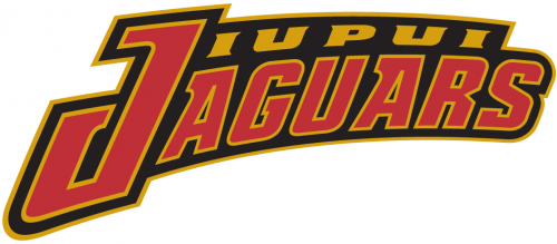 Iupui Jaguars Wordmark Logo Team Name Red And Gold