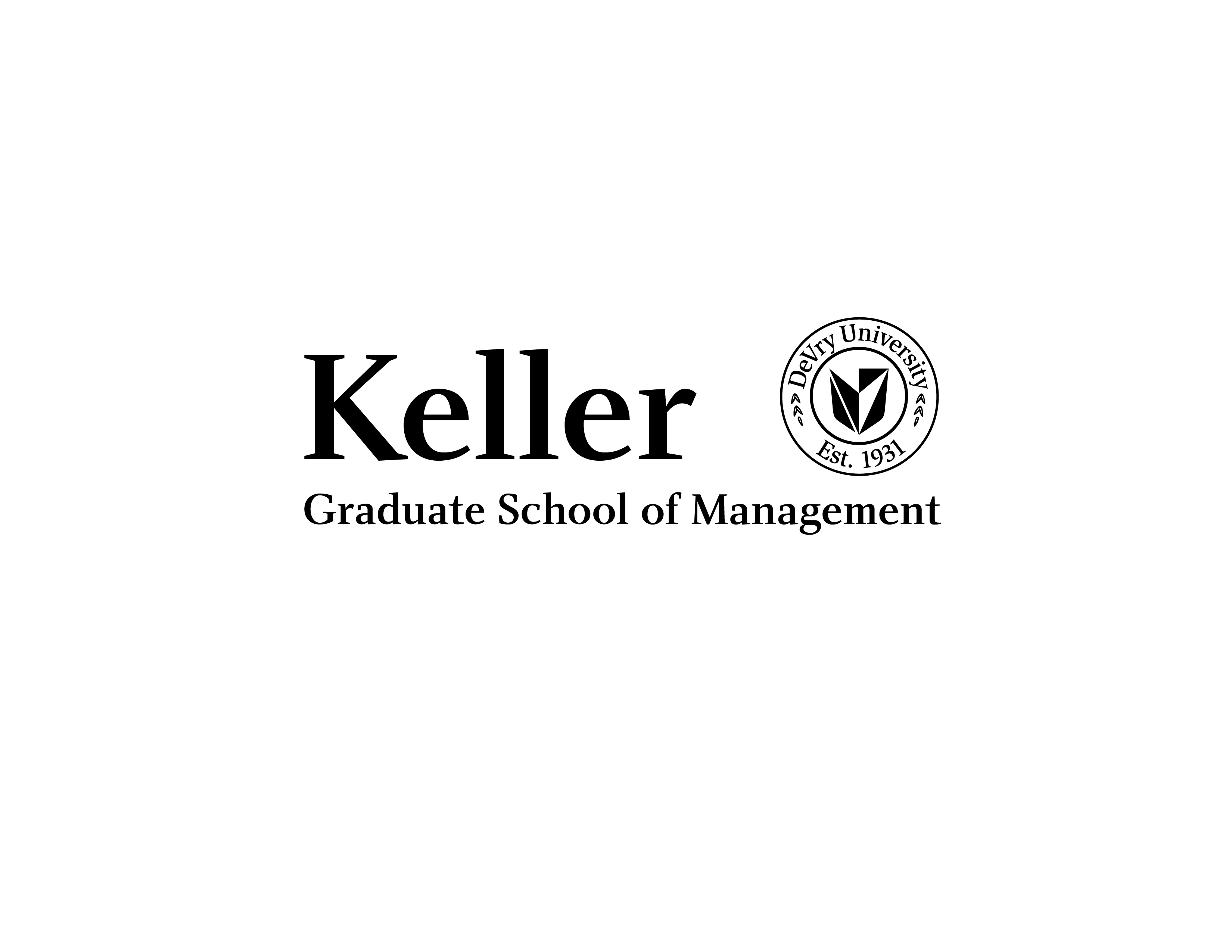 Keller Graduate School Management Advertising Print Logo