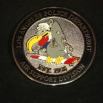 Lapd Air Support Division Challenge Coin Buzzard Logo