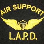 Lapd Air Support Wings Logo Polo Shirt