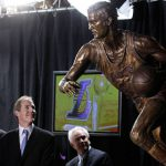Nba Logo Before Jerry West Statue Unveiled