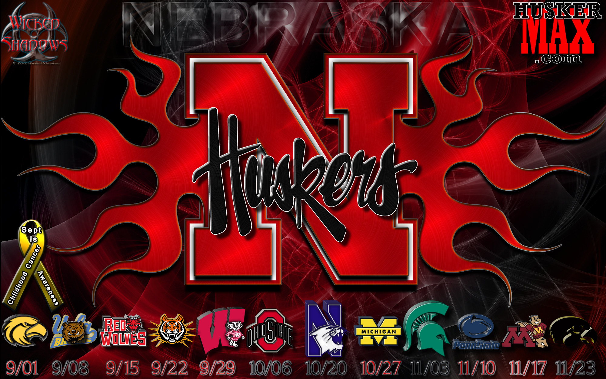 Nebraska Huskers Football Schedule