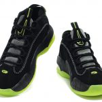Penny Hardaway Black White Green Logo Shoes