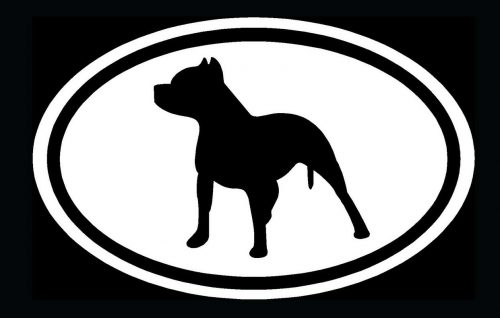 Pitbull Oval Decal