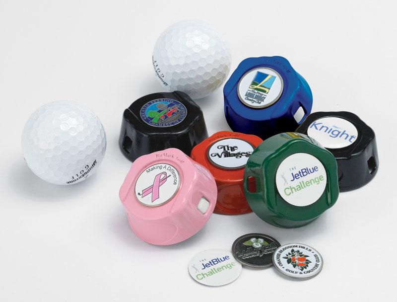 Pocket Sized Golf Ball Cleaner Includes Logoed Magnetic Marker