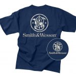 Smith And Wesson Logo Shirt Navy Graphic Tee