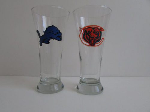 Sports Team Logo Pilsner Beer Glasses Mugs Myshardsofglass