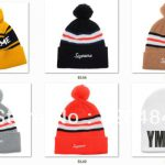 Supply Beanie Obey Font Box Logo Winter Knitted Hats