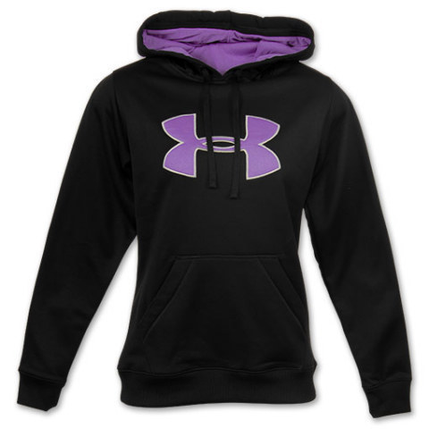 Under Armour Big Logo Women Hoodie Black Purple Image
